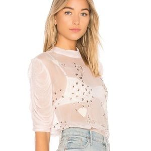 FREE PEOPLE SO IN LOVE BLOUSE
